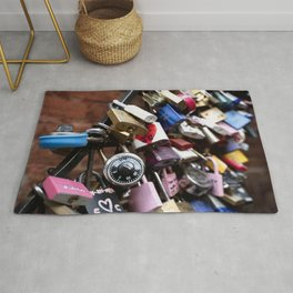 Newlywed vowing a romantic and everlasting love Rug
