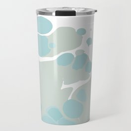 Soft Pastel turquoise and mint green spilled paint bubbles effect Travel Mug