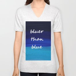 bluer than blue Unisex V-Neck