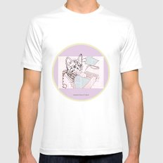 Dedicated Follower Of Fashion  MEDIUM Mens Fitted Tee White