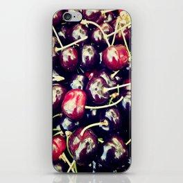 sweet cherries iPhone Skin