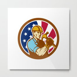 American Handyman USA Flag Icon Metal Print