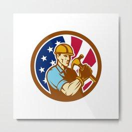 American Handyman USA Flag Icon Metal Print