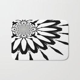 The Modern Flower White & Black Bath Mat