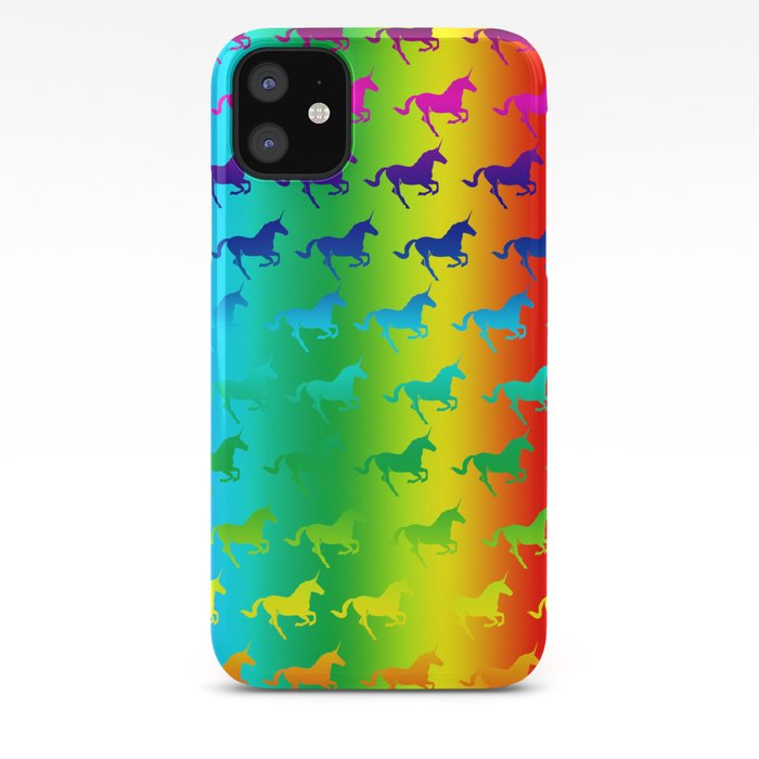 Psychedelic Unicorn Pattern iPhone Case