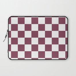 Purple, Mulberry: Checkered Pattern Laptop Sleeve