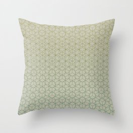 Tessellation - Culture Clash - Polytone Khaki / Sea-green Throw Pillow