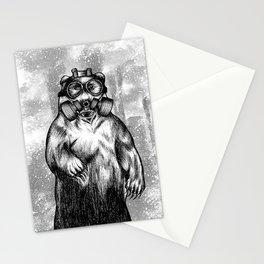 toxic bear  Stationery Cards