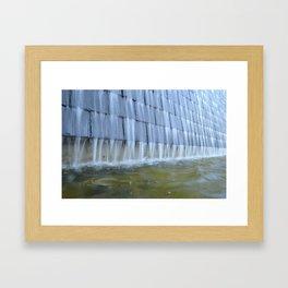 Water Wall Framed Art Print