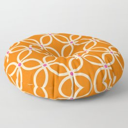 Trellis Orange Floor Pillow