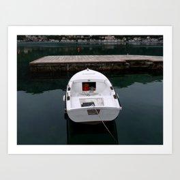 The White Boat Art Print