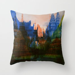 Shwedagon Pagoda Throw Pillow