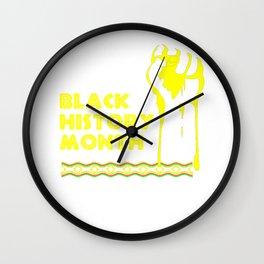 Black History Month Shirt - Black Lives Matter Wall Clock