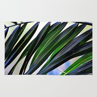 palm Area & Throw Rugs featuring palm by  Agostino Lo Coco