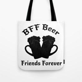 Funny Drinking Beer Friends Forever - Drinker Tote Bag
