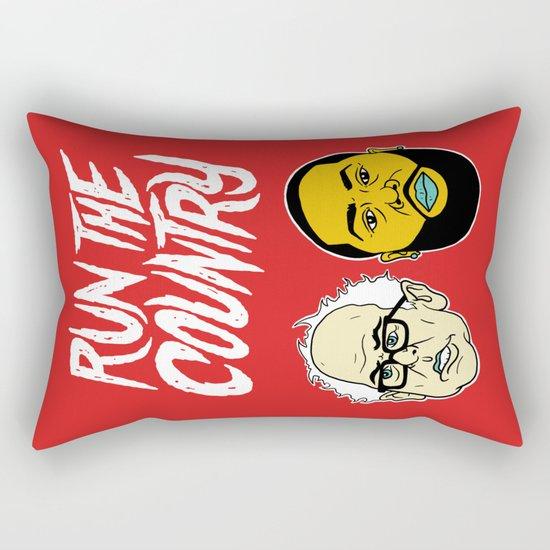 Run The Country Rectangular Pillow