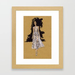 A Modern Wedding Dress Framed Art Print