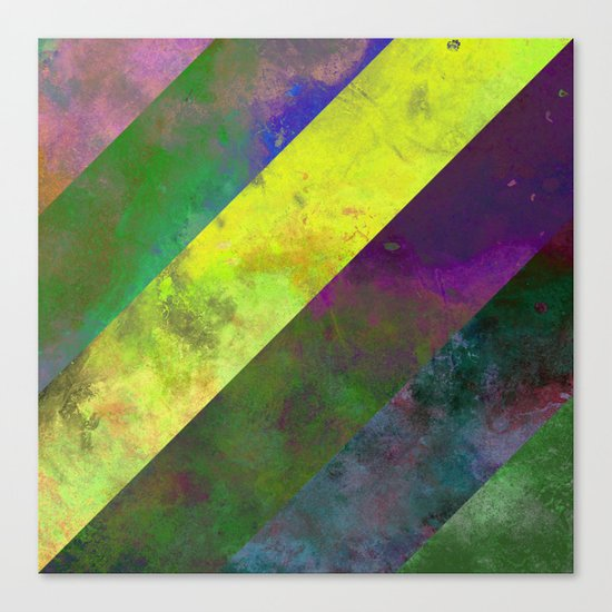 45 Degrees - Abstract, textured, diagonal stripes Canvas Print