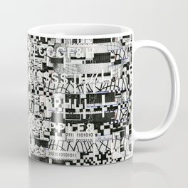 Confused Images Behind the Interface (P/D3 Glitch Collage Studies) Coffee Mug
