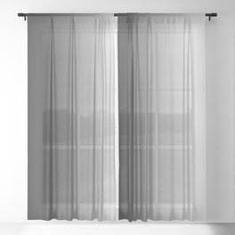 Black to White Vertical Linear Gradient Sheer Curtain