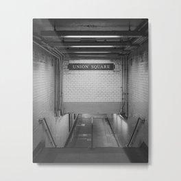 Union Square Underground B&W Metal Print