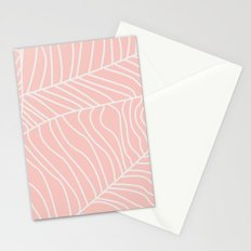 TROPICAL LEAVES - pink palette Stationery Cards