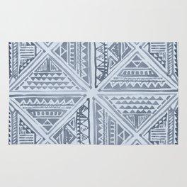 Simply Tribal Tile in Indigo Blue on Sky Blue Rug