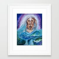 jesus Framed Art Prints featuring Jesus by gretzky