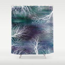 Midnight Purple Teal Shower Curtain