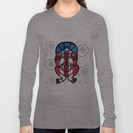 Atabeira Puerto Rican flag petroglyph Long Sleeve T-shirt