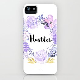 Hustler Purple Flowers iPhone Case