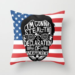 Public Enemy Number One Throw Pillow