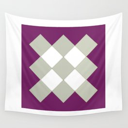 """Geometric Print """"Quilted"""" Wall Tapestry"""