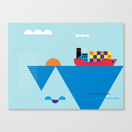 Blue Cosmopolitan Canvas Print