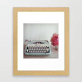 hello with love  Framed Art Print