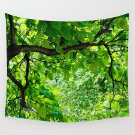 Peek into the Summer Trees Wall Tapestry
