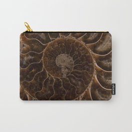 Brown Ammonite Carry-All Pouch