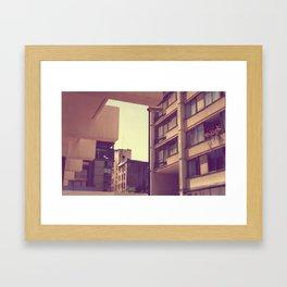 Spring sunset Framed Art Print