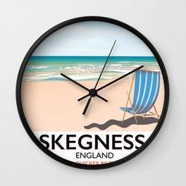 Skegness vintage style railway poster Wall Clock