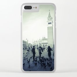 Venice, Piazza San Marco 1 Clear iPhone Case