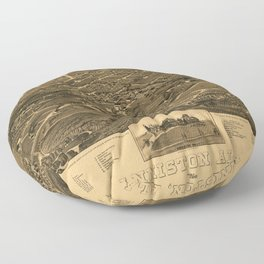 Aerial View of Anniston, Alabama (1887) Floor Pillow