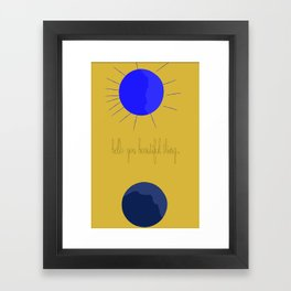 """Yes."" By Joelle Hamilton. Framed Art Print"