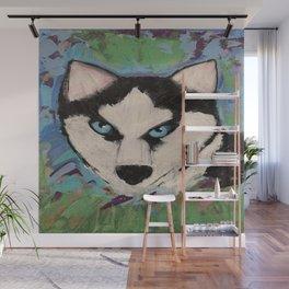 Husky Painting Wall Mural