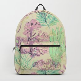Pastel seaweed pattern. Backpack