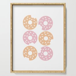 Six Sprinkled Donuts Serving Tray