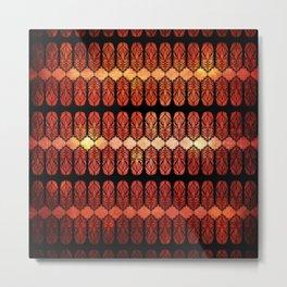 Glass Flames Metal Print