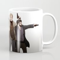 fargo Mugs featuring Numbers & Wrench by Negative Dragon