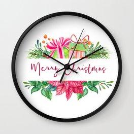 Merry Christmas Design Elements 1 Wall Clock