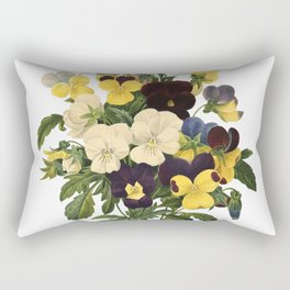 Bouquet of violets flower | Vintage Redoute Flower Hand drawn Illustrations  Rectangular Pillow