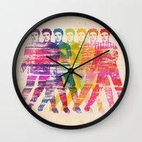 elvis presley Wall Clocks featuring Elvis Presley by manish mansinh